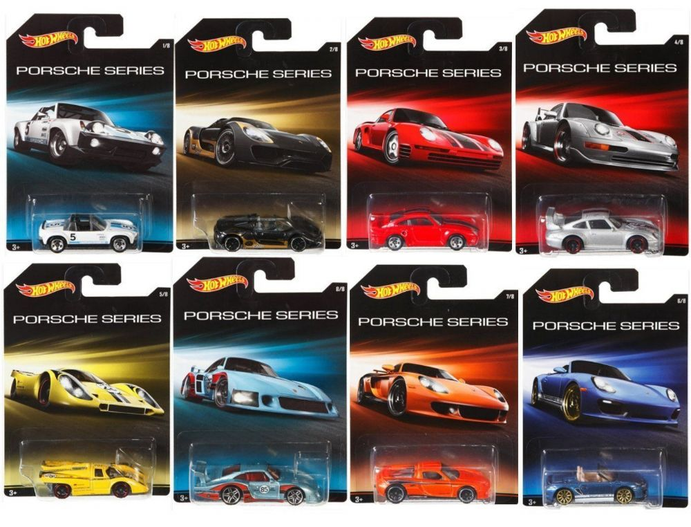 Hot Wheels Porsche Series Complete Set Of 8